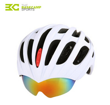 Basecamp Insect Net MTB Bike Road Cycling Helmet 27 Vents  with 3 Lenses Goggles Bicycle Ultralight Helmet 5 Colors