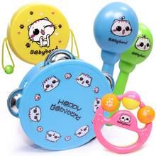 53d0c43dd 5pcs Baby Rattle Toy Set Music Instrument for Child Kid Drum Maracas Hand  Bell Guitar Infant Toddler Education Mobile Boys Girls