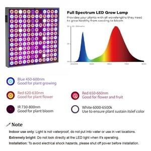 Image 4 - DCOO lampa fito 45W LED rośliny świetlówka do roślin 265V pełne spektrum dla kryty roślin szklarniowych do kwiatów hydroponiczne Panel świetlówka do roślin