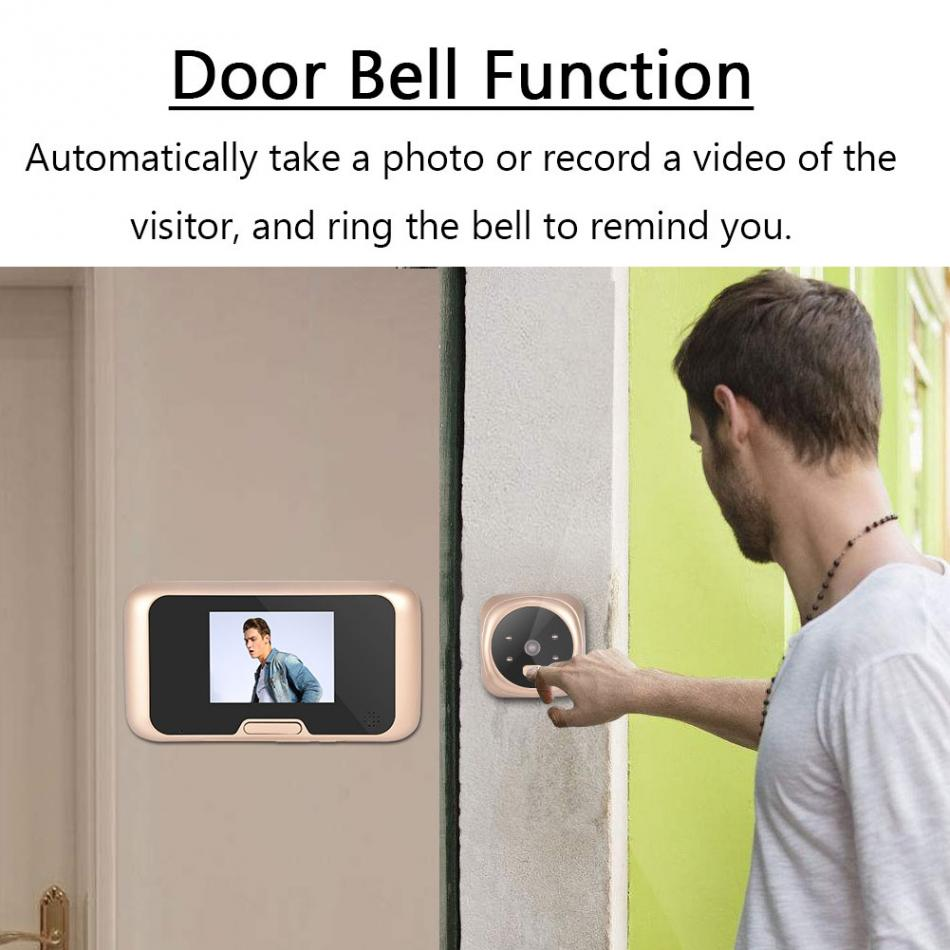 2.8 inch LCD Screen Digital Peephole Door Viewer Camera IR Night Vision HD Camera Visual Video Doorbell Safety Peephole Viewer ultra thin 2 8 inch lcd screen door bell viewer digital monitor peephole home doorbell security camera with night vision video