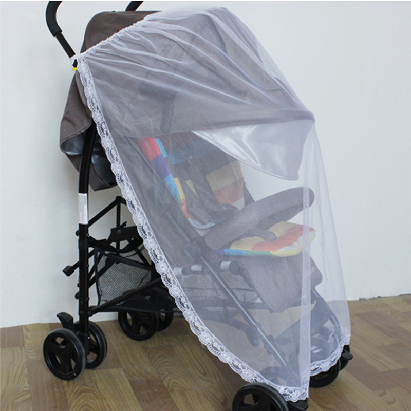 Large Size Infants Baby Summer  Safe Stroller Insect Mosquito Net Mesh Pushchair Full Cover Half Cover Mosquito Net FCI#
