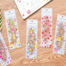 1pcs/lot New Hot Stamping Dream Epoxy Crystal Transparent Decoration Planner Diary DIY hand scrapbook Stickers