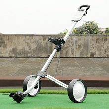 brand PGM Founders Club Quick Easily Fold Wheel Golf Push Pull Cart Trolley White Easy folding