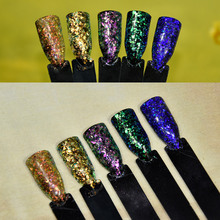 NEWEST 2017 1g/Box Sale 5Colors New arrival color shift Sparkling Irregular Chameleon Chrome Flakes Pigment for Nails,MGYG-01-05