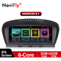 NaviFly 6 core 2 GB + 32 GB Android 8,1 reproductor multimedia para BMW Serie 3 E90 E91 E92 serie 5 E60 E61 E63 E64 CCC CIC máscara