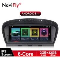 Navifly 6 core 2 Гб + 32 ГБ, Android 8,1 Автомобильный мультимедийный плеер для BMW 3 серии E90 E91 E92 5 серии E60 E61 E63 E64 CCC CIC маска