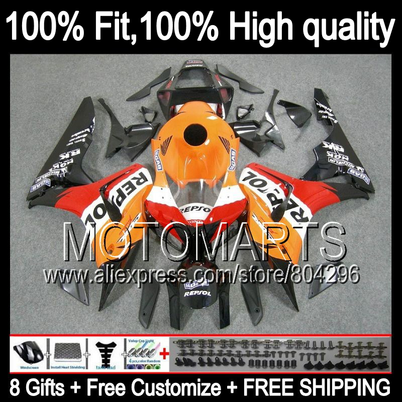 цена на Repsol orange Bodys For HONDA CBR1000RR 06-07 CBR1000 RR Red black 39JK1 CBR 1000RR 1000 RR 06 07 2006 2007 Injection Fairing
