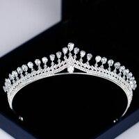 Роскошная женская корона принцессы ободок со стразами тиара и корона ободок для волос серебряные свадебные аксессуары для волос