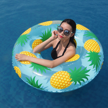 104CM Giant Pineapple Print Women Swimming Ring Adult Inflatable Pool Float Summer Water Toys Air Mattress Lounger Boia Piscina