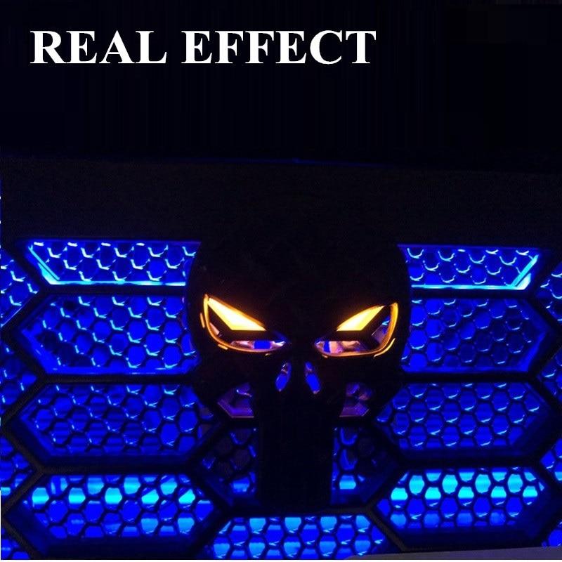 Bilhuvud Dekoration Svart Punisher Skull Bilemblem Emblem - Exteriör biltillbehör - Foto 3