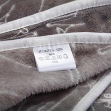 Fleece Cartoon Cat Printed Blanket