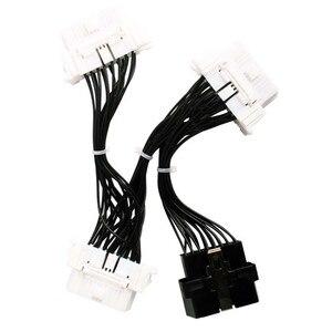 Image 3 - 16 pin OBD2 OBDii OBD 2 przedłużacz splittera jeden męski na trzy kobieta Y kabel OBD2 Splitter OBD2 rozszerzenie dla Icar2 ELM327