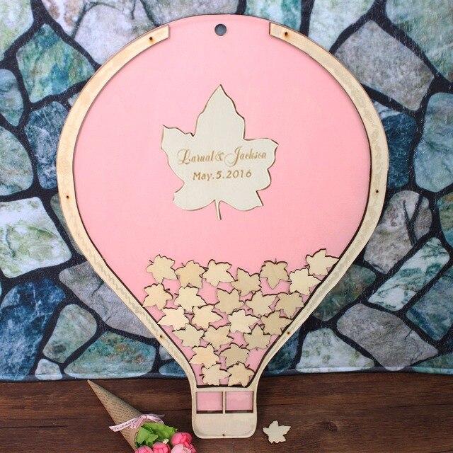 Personalizada boda Libro de Visitas rústico globo forma marco de ...