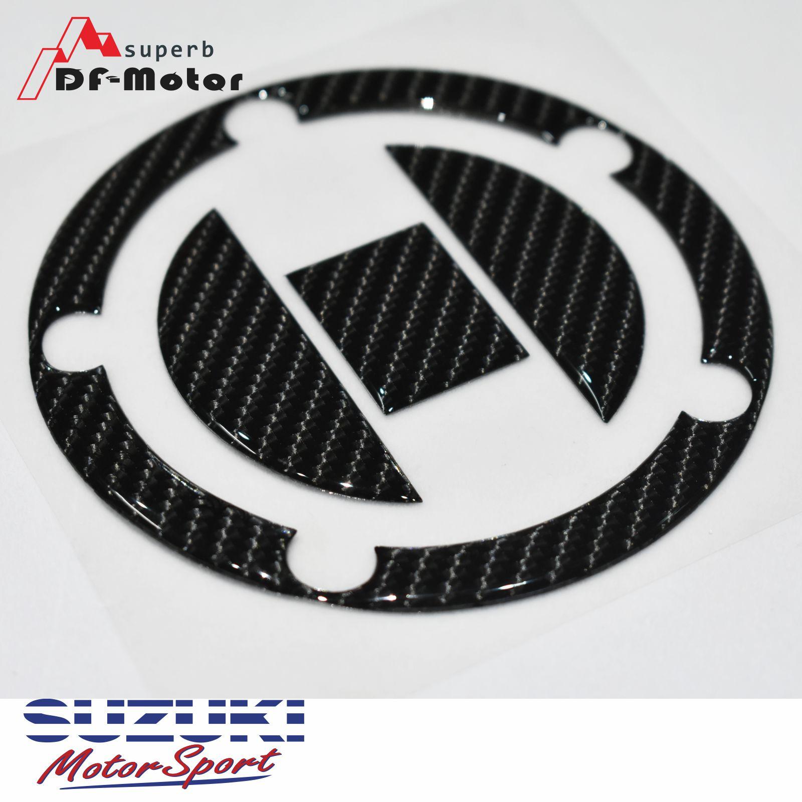 Real Carbon 3D Sticker Decal Emblem Protection Tank Pad Gas Cap For SUZUKI GSXR600 750 1000 1300 Hayabusa