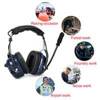 baofeng uv 5r ביטול רעש תעופה מיקרופון אוזניות מכשיר הקשר אפרכסת VOX התאמת עוצמת הקול עבור Kenwood Baofeng UV-5R Retevis H777 (2)