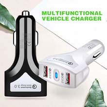 Pohiks High Quality Car Charger For Smart Phone Dual 2-Port USB QC3.0 Quick Fast Charging for Mobile Cell