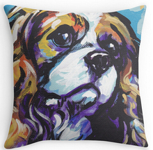 "Cool Art Design Cavalier king charles spaniel Dog Pillow Cases two sides printingfor 12""14"" 16"" 18"" 20"" 24""  free shipping"