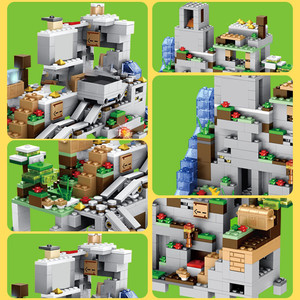 Image 3 - 1000Pcs Bouwstenen De Berg Grot Met Lift Waterval Cijfers Bricks Onderwijs Speelgoed Voor Kinderen Kids Geschenken