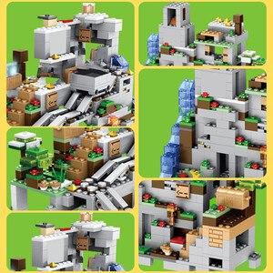 Image 3 - Bloques de construcción de la cueva de la montaña para niños, ascensor, cascada, figuras, juguetes educativos, regalos, 1000 Uds.