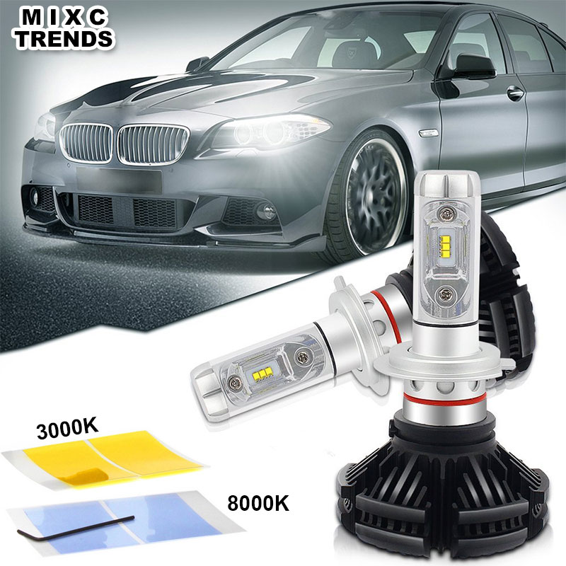 MIXC TRENDS X3 Car Headlight H7 LED H4 hb4 9006 led bulb for auto motorcycle 50W 6000LM H11 H13 9005 H1 12V Headlamp Fog Lights