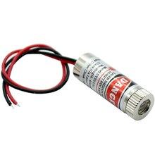 650nm 5mW אדום נקודה/קו/צלב לייזר מודול ראש זכוכית עדשת Focusable תעשייתי כיתה