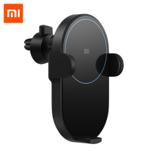 Xiaomi Mi 20W Wireless Car Charger 2.5D Glass Electric Auto Pinch Ring Lit Charging for Smartphone iPhone