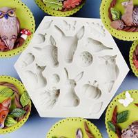 3D Sugarcraft Dieren Verjaardagsfeestje Siliconen Cakevorm Fondant Taart Decoreren Gereedschappen Chocolade Gum Paste Mold Clay Mould V3
