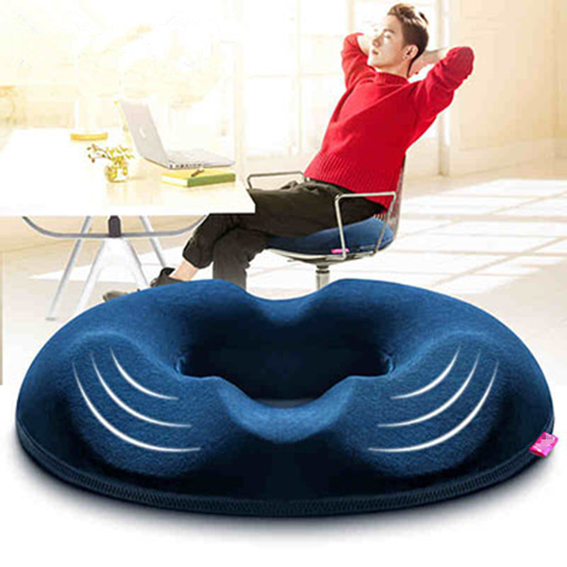 Seat-Cushion Memory-Foam Office Chair Coccyx Orthopedic Buttock Massage For Car Home-Bottom