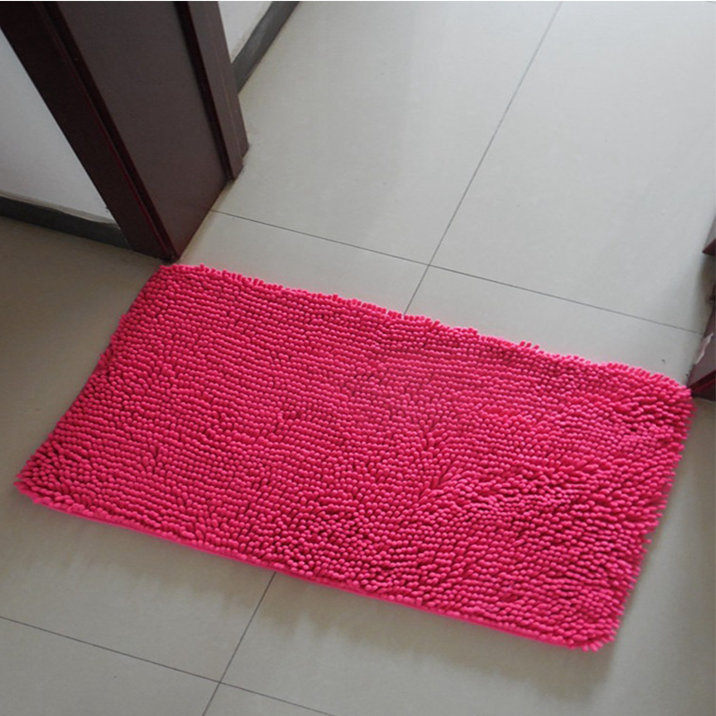 EHOMEBUY 2018 Modern Carpet Chenille Self Adhesive Home Stair Tread Mats Sold By 1 Piece Mats Non Slip Rose Red Solid Color