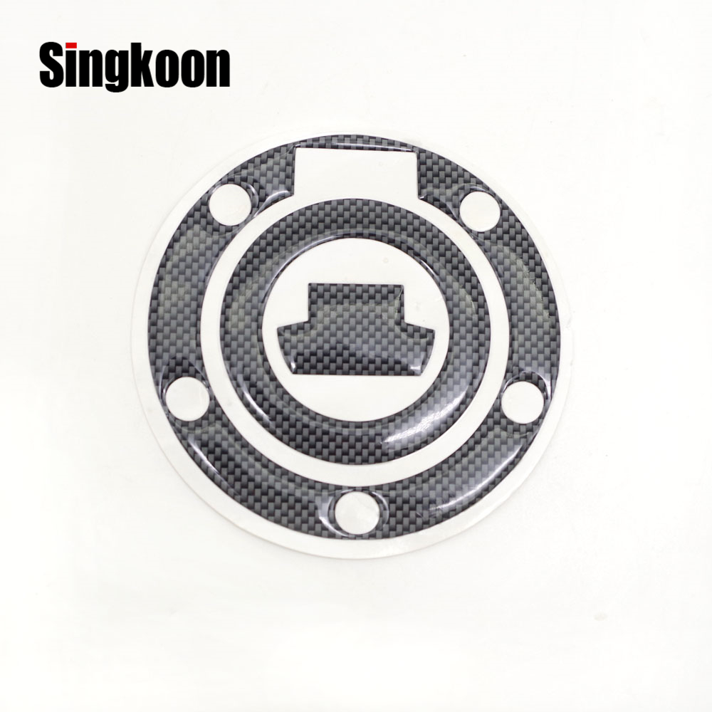 Carbon Fiber 3D Motorcycle Stickers And Decals Oil Gas Tank Cap Pad Protector For YAMAHA FZ6S FZ6N XJ6 FZ6R FJR1300 FZ1S FZ8