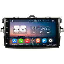 Octa Core 2GB RAM 32GB ROM Android 6.0.1 HD Car Radio GPS Navigation Player Camera Autoradio BT For Toyota Corolla 2006-2011