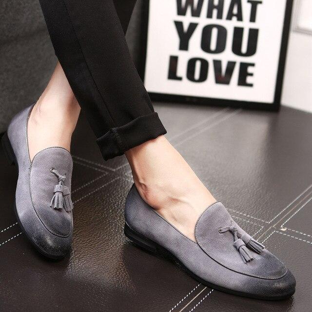 713052c048e3 Men Casual Shoes 2019 Fashion Men Shoes Leather Men Loafers Moccasins Slip  On Men s Flats Loafers Male Shoes
