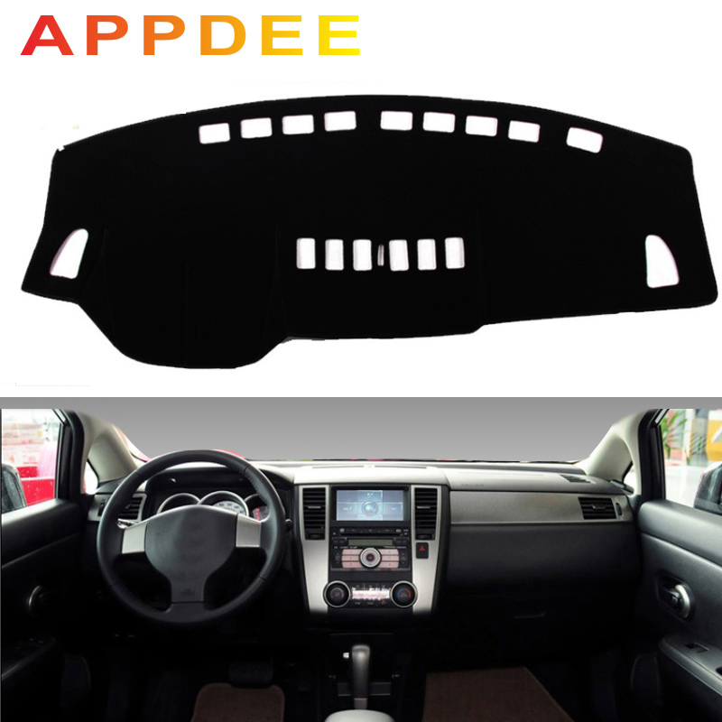APPDEE For Nissan Tiida C11 2004-2010 Car Styling Covers Dashmat Dash Mat Sun Shade Dashboard Cover Carpet 2005 2006 2007 2008 2