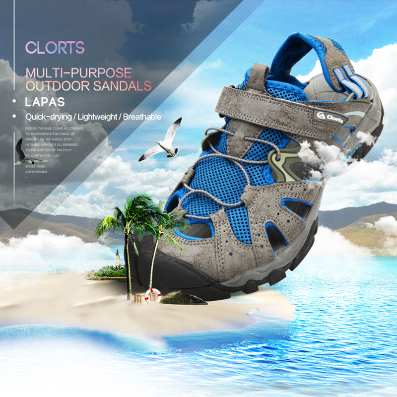 Clorts Men Swimming Water Sandals Breathable Aqua Shoes Quick-drying Upstream Wading Shoes SD-207 цена