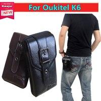 Men Black Brown Leather Belt Phone Pouch Hoslter Waist Bag Case For Oukitel K6 6 0