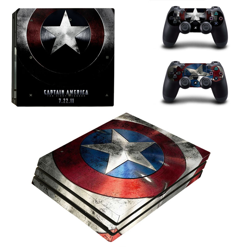 Super Hero Skins For Sony Play station 4 Controller Decal Sticker For PS4 Pro Console Game Accessories