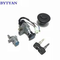 BYTYAN Motorcycle Scooter Lock Ignition Key Switch Set Seat Lock Key kit For Yamaha 3YK JOG ZR 3KJ 5BM JOG 50
