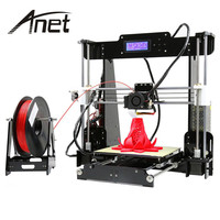 Anet A8 3D Printer Color Printing Printer Large Printing Size Precision Reprap 3 DIY 3D Printer kit 3 Materials LCD Filament