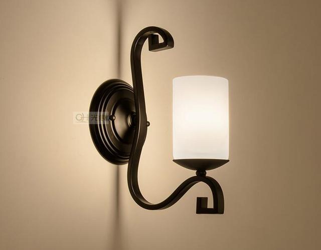 Plafoniere Da Parete : Americano semplice applique da parete nordic retro segni lampada