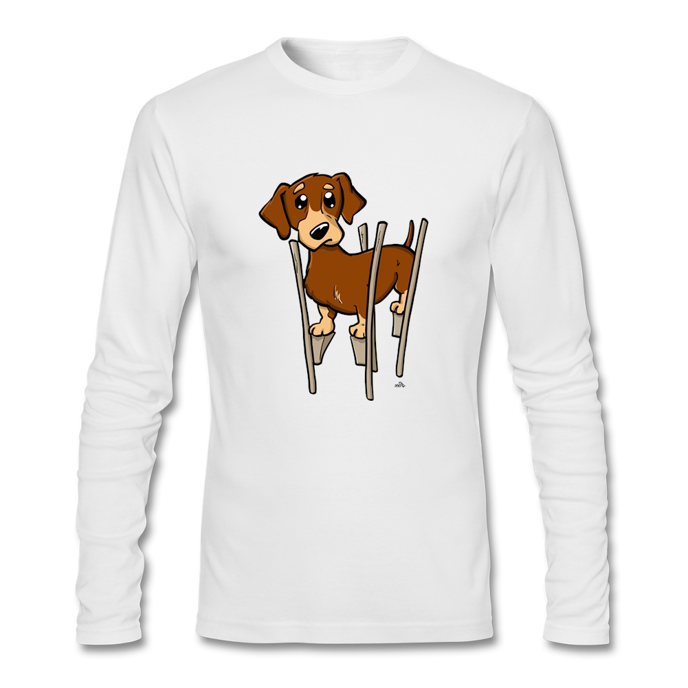 Design your own t shirt military - Buy Design Your Own O Neck Dachshund Wiener Cartoon Dog Long Sleeve Men 2016 Fashion Autumn T Shirts Cheap Sale