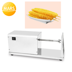 Commercial Use Electric Potato Twister Cutter 110V 220V Tornado Potatoes Slicer Spiral French Fries Chips Maker Cutting Machine