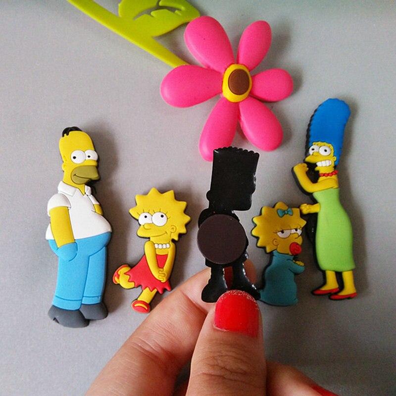 Image 2 - Homer Simpson cartoon creative fridge magnet early education decorative refrigerator Sticker home decor-in Fridge Magnets from Home & Garden