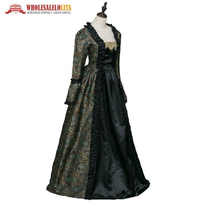 7bb61be3c Vestidos medievales de época gótica vestido de brocado renacimiento  Steampunk recreación ropa de mujer