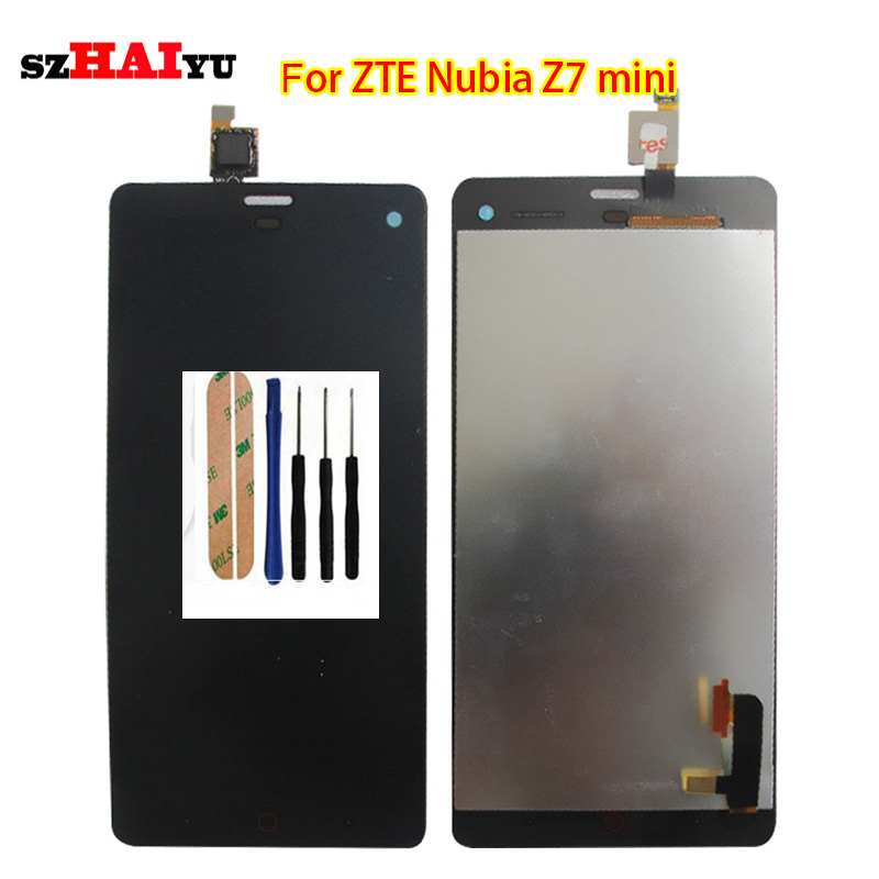 ФОТО 100% Tested Working Well Black LCD Display+Touch Screen For ZTE Nubia Z7 mini NX507J  with Digitizer Assembly Tools