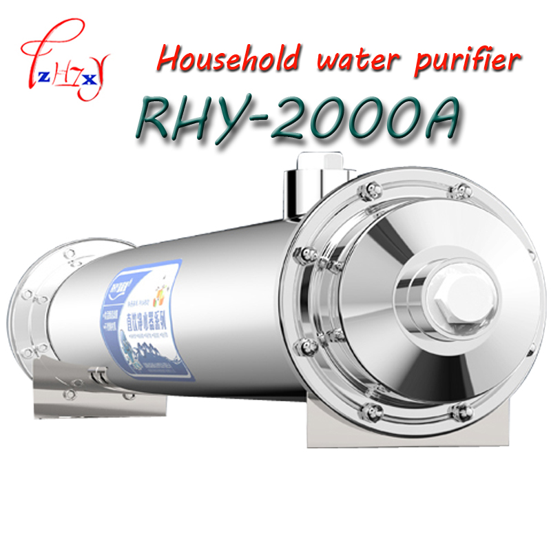 1pc Stainless Steel Ultrafiltration Water Purifier without Electricity RHY-2000A UF Membrane Filters Straight Drink Water Filter1pc Stainless Steel Ultrafiltration Water Purifier without Electricity RHY-2000A UF Membrane Filters Straight Drink Water Filter