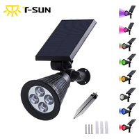 Solar LED Outdoor Spotlight Wall Light IP65 Waterproof 180 Angle Adjustable For Tree Patio Yard