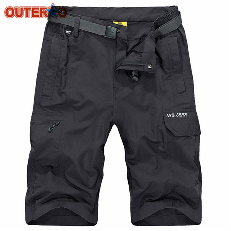 OUTERDO Nylon Quick Drying Cycling Shorts Water-repellent Loose MTB Shorts Summer Mens Cargo Breathable Bicycle Shorts