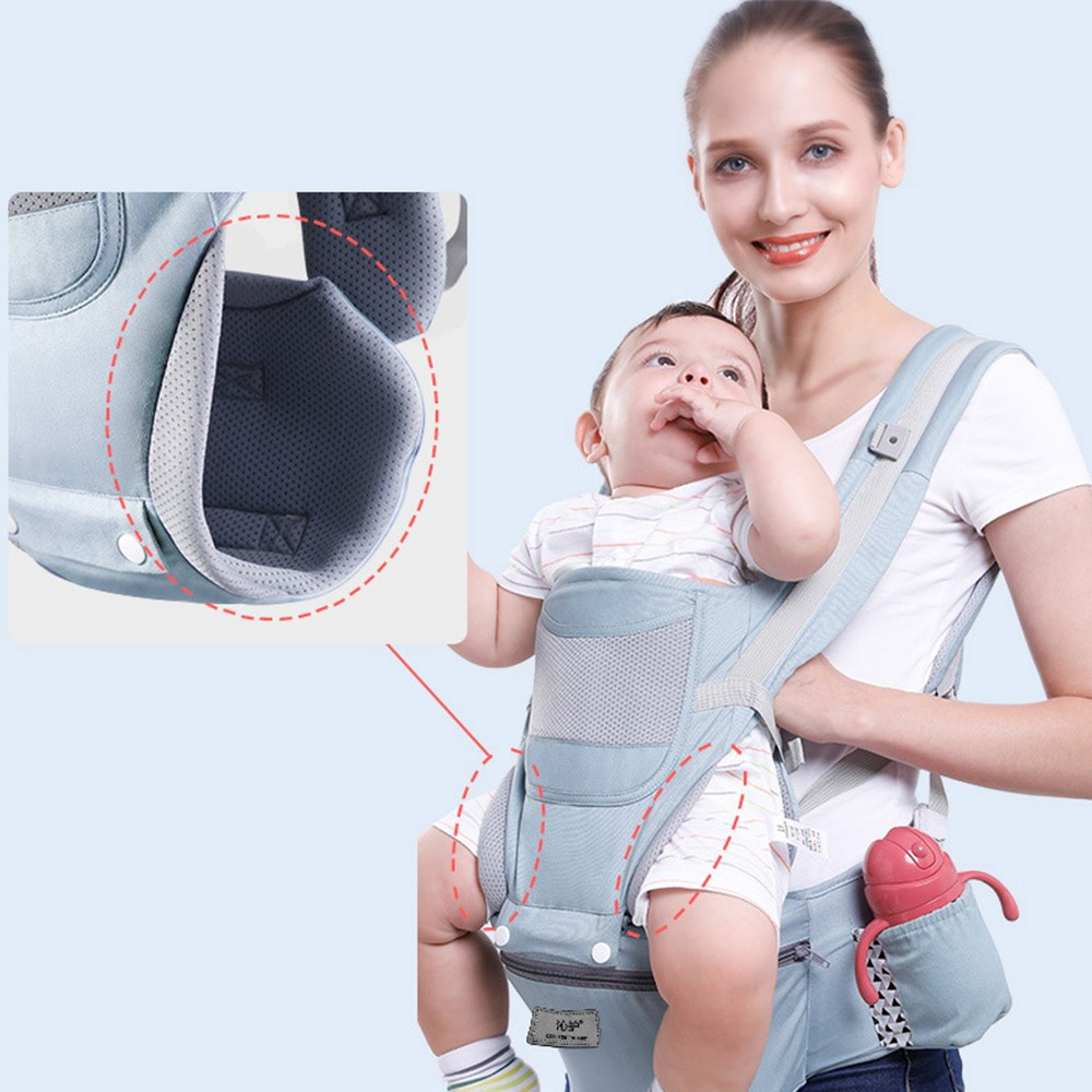 0-48M Ergonomic Baby Carrier Infant Baby Hipseat Carrier Front Facing Baby Wrap Sling For Travel 11