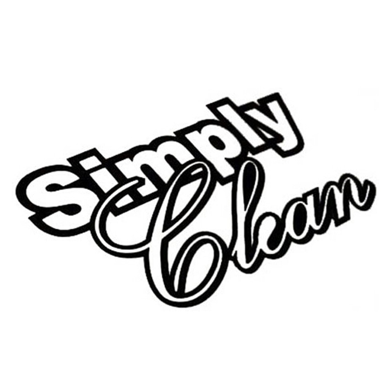 14*6CM SIMPLY CLEAN Funny Letters Waterproof Car Stickers
