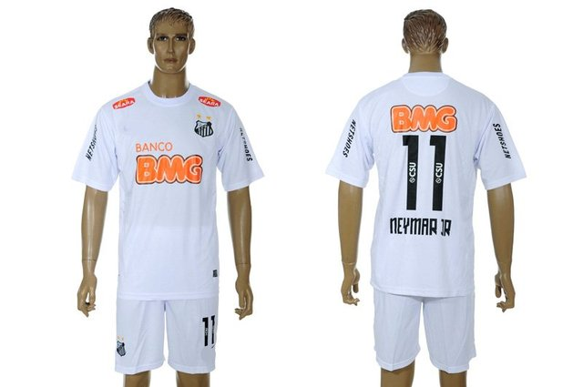 10e389a1868 2012-2013 Season Santos FC #11 Neymar home white football jerseys away  football uniforms soccer jersey Free shipping